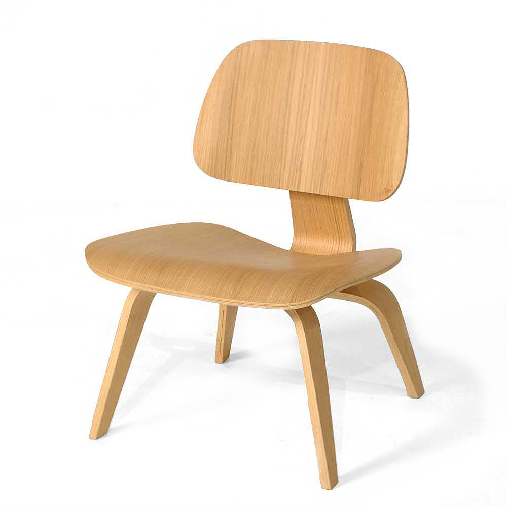 Genial Ash Wood   Eames Style Molded Plywood Lounge Chair Mid Century Design
