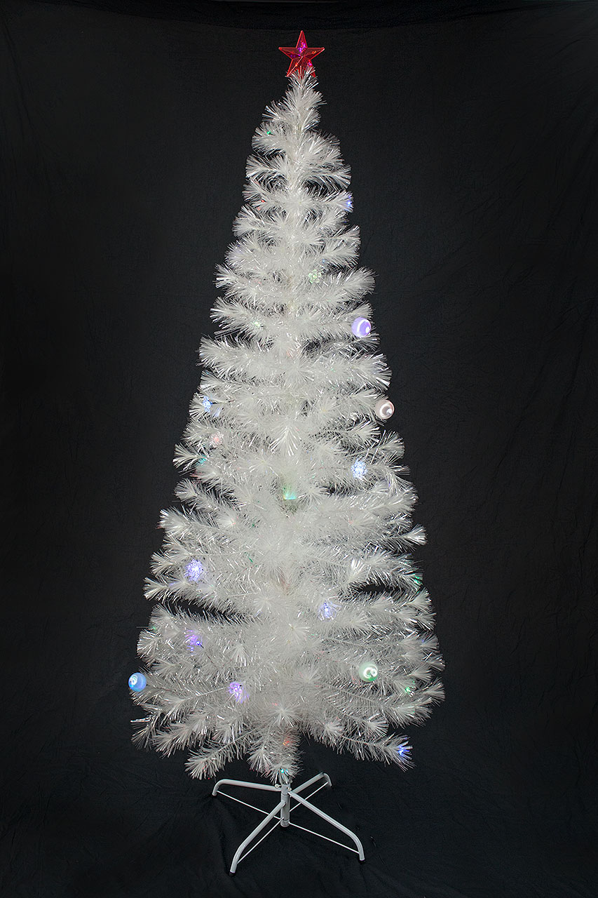 20a5dad823c 6 FT PRE-LIT MULTI COLOR LED   FIBER OPTIC CHRISTMAS TREE - BRIGHT WHITE  STAND