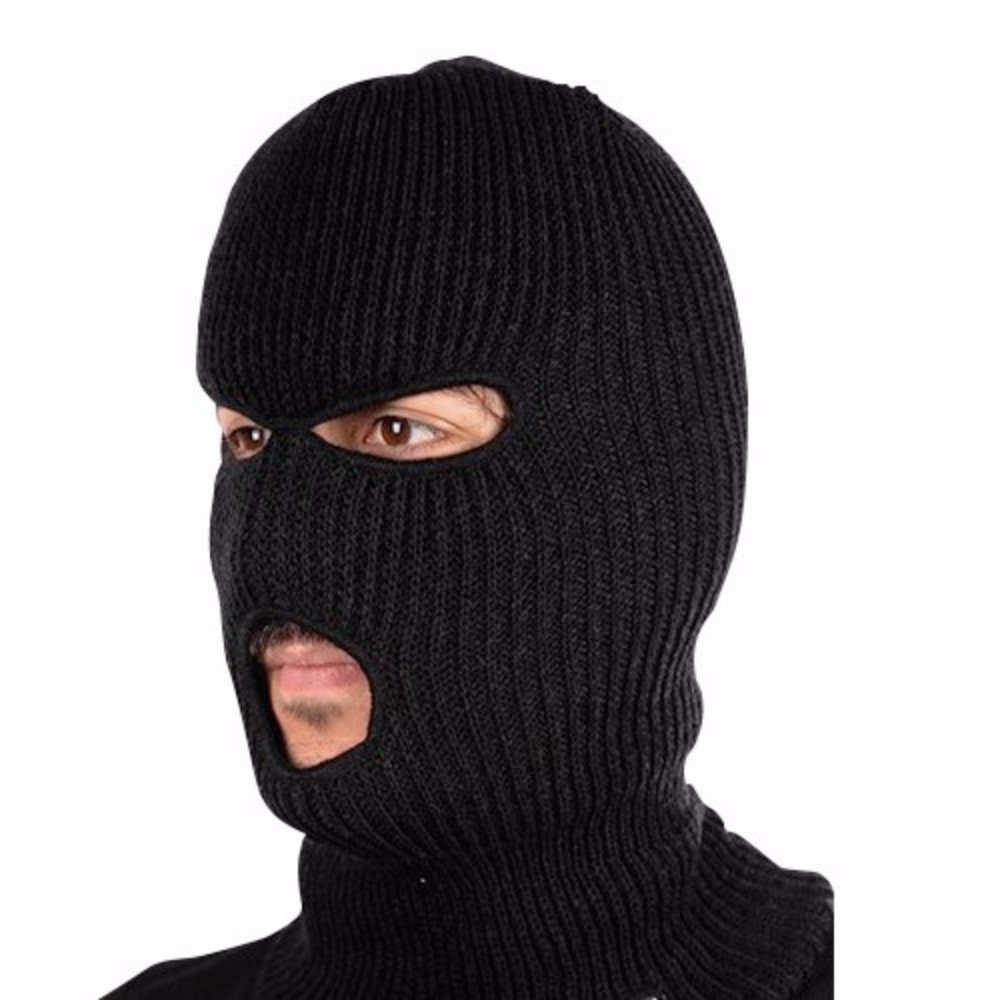 Winter Knit Ski Masks with Added Neck Protection - in 3 Colors