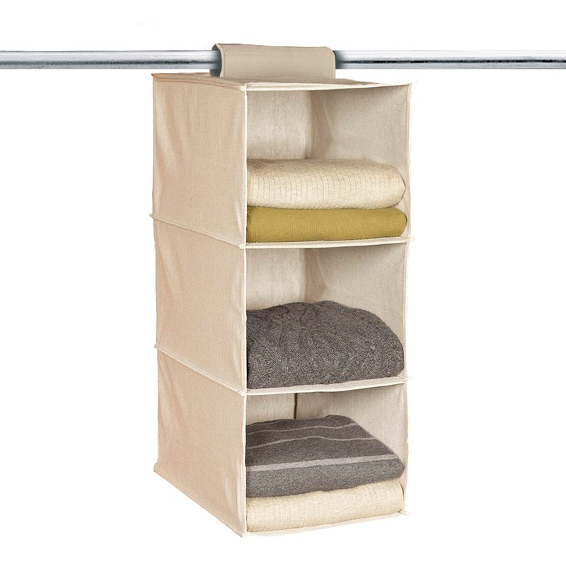 3 section hanging collapsible space saver closet organizer - Space saver closet organizers ...