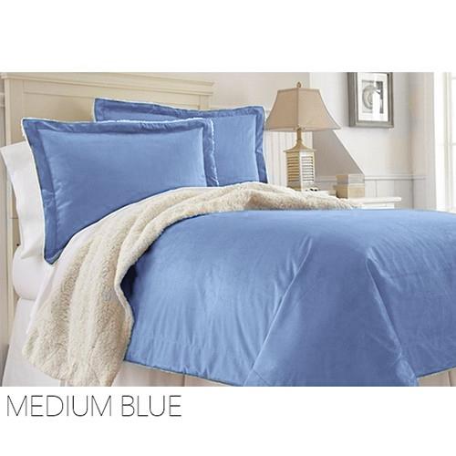 rc collection warm plush sherpa comforter blanket king queen size ebay. Black Bedroom Furniture Sets. Home Design Ideas