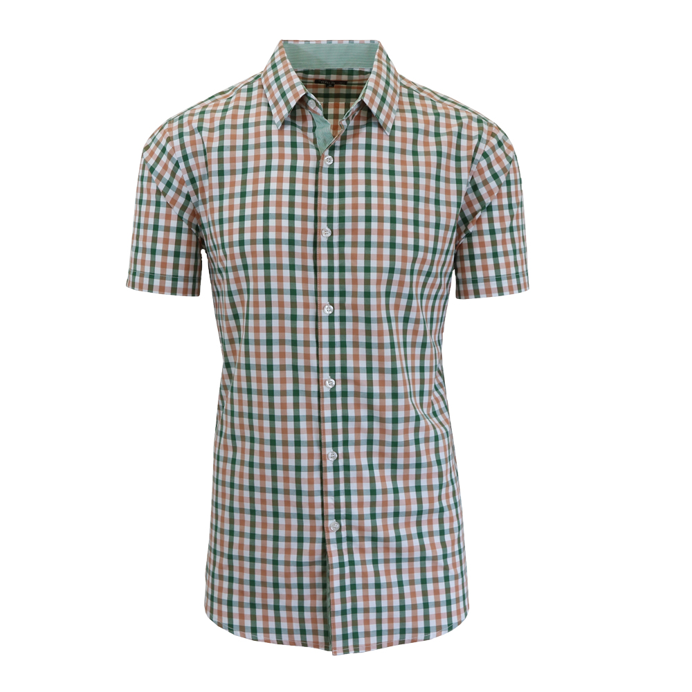 Galaxy by Harvic Men's Slim Fit Checkered Button Down Short Sleeve ...