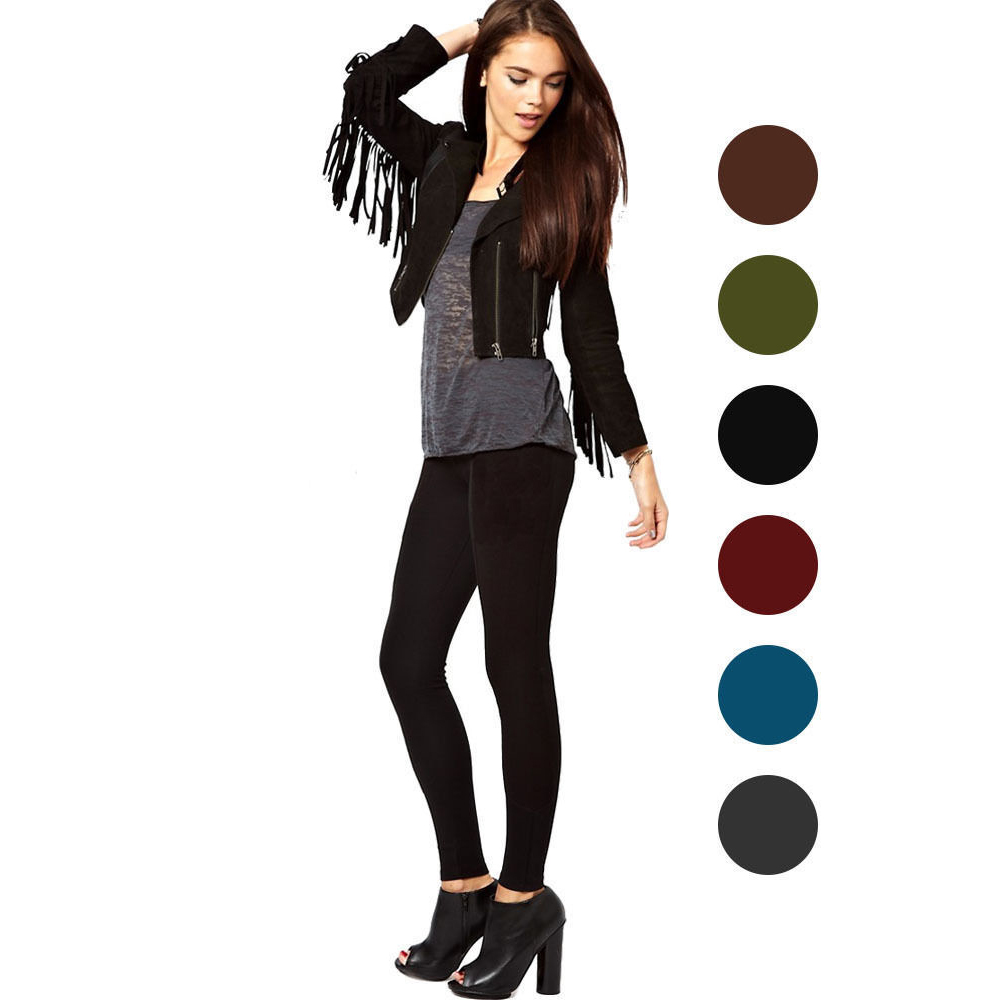 Leggings - Nicole Miller Fleece Lined Footless Tights - Available in 6 Colors