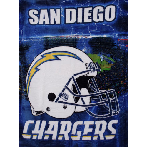 "San Diego Chargers Front Office: Official NFL Queen/Full 60"" X 80"" Large Royal Plush"