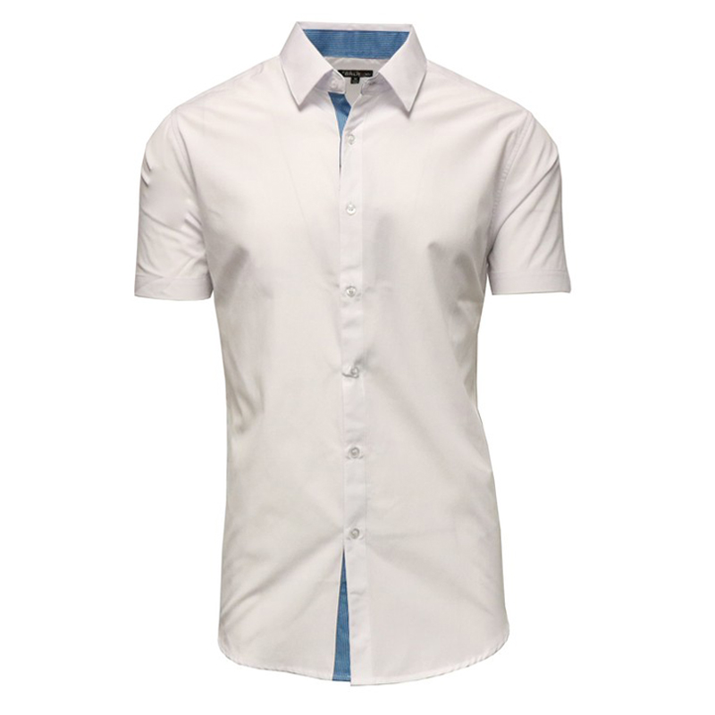 Galaxy by Harvic Men's Cotton Short Sleeve Solid Casual Button ...