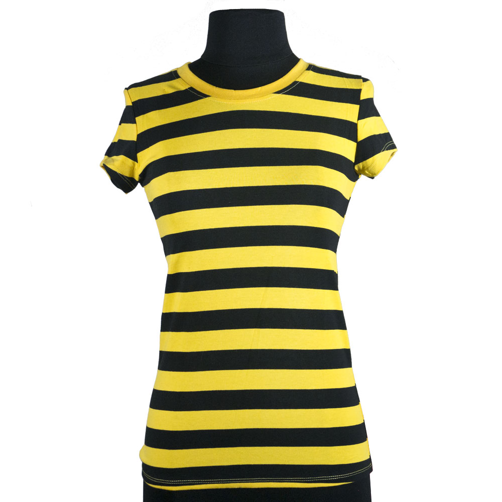 Ladies-039-Casual-Cotton-Striped-Short-Sleeved-Round-Neck-T-Shirts