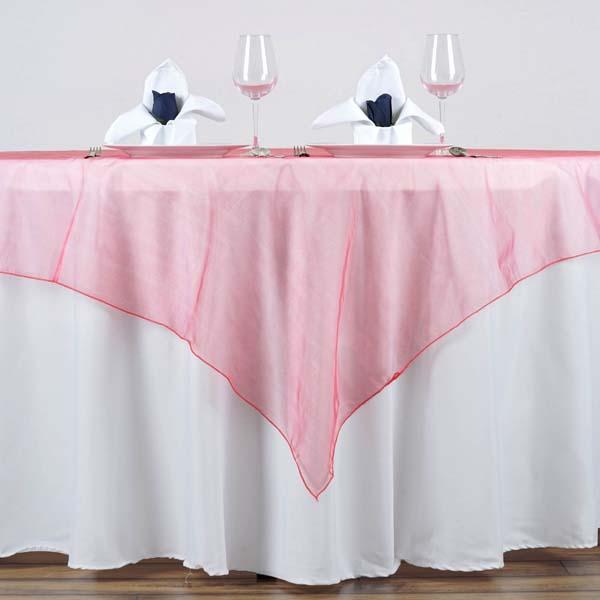 Organza Table Overlay 60 X 60 Wedding Reception Party Table
