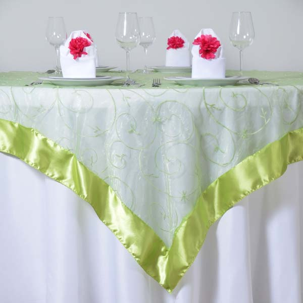 Superieur Organza Embroidered Table Overlay 72 034 X72 034