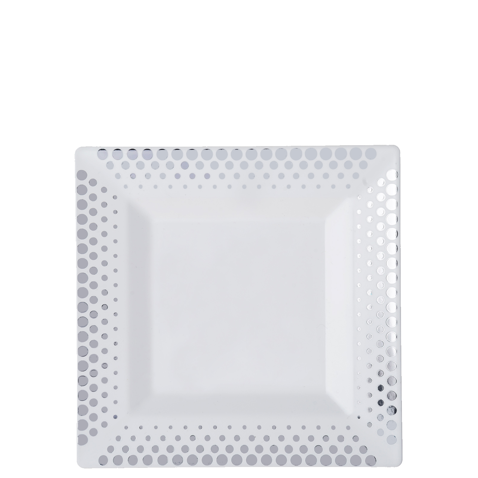 50-Pcs-Square-Disposable-Plastic-Plate-Hot-Dots-  sc 1 st  eBay & 50 Pcs - Square Disposable Plastic Plate - Hot Dots Collection | eBay