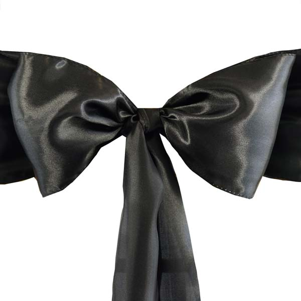 25pcs-SATIN-Chair-Sashes-Tie-Bows-Catering-Wedding-Party-Decorations-6-x106-034 thumbnail 5
