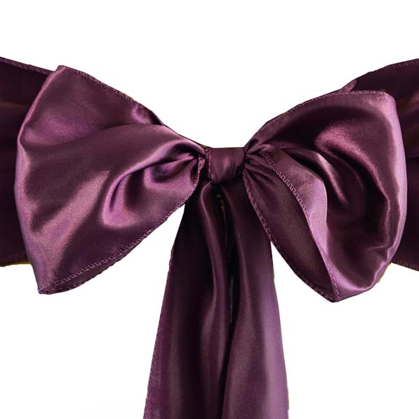 25pcs-SATIN-Chair-Sashes-Tie-Bows-Catering-Wedding-Party-Decorations-6-x106-034 thumbnail 21