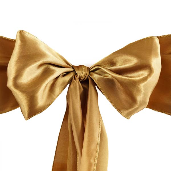25pcs-SATIN-Chair-Sashes-Tie-Bows-Catering-Wedding-Party-Decorations-6-x106-034 thumbnail 25