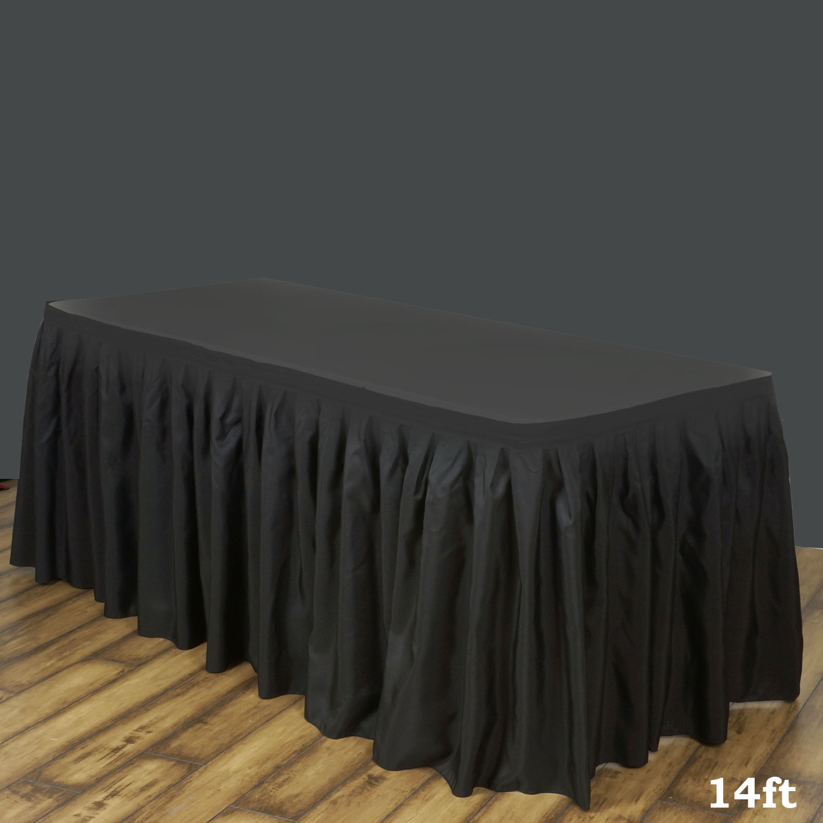 ef1a76659404 Efavormart 21ft Burgundy Accordion Pleat Polyester Table Skirt for Kitchen  Dining Catering Wedding Birthday Party Decoration ...