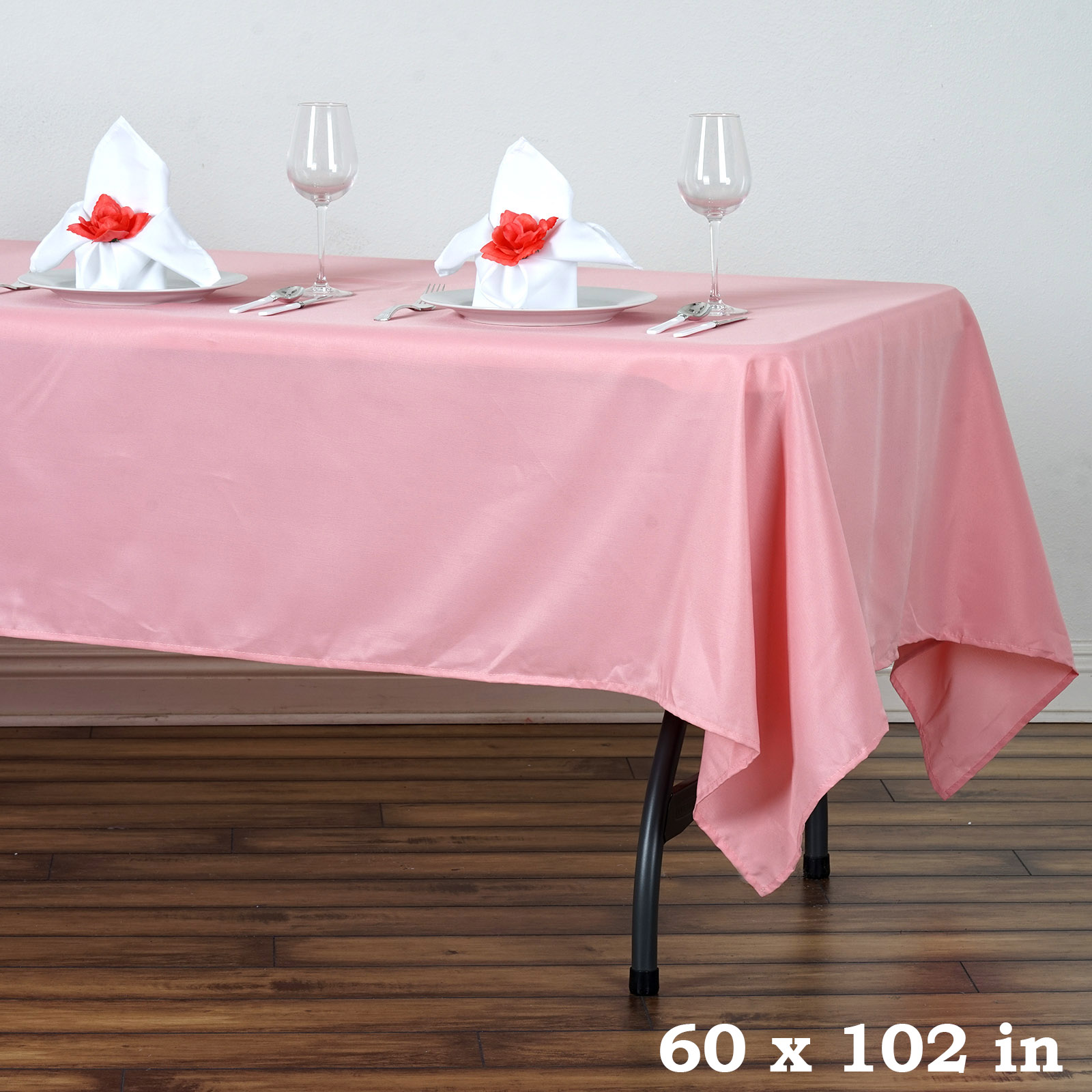 5pcs-60x102-034-Polyester-Rectangle-Tablecloths-For-Wedding-Party-Banquet-Events thumbnail 11