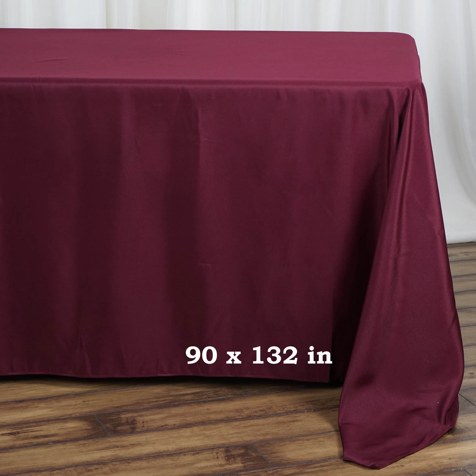 90x132-034-Polyester-Rectangle-Tablecloths-For-Wedding-Party-Banquet-Events thumbnail 7