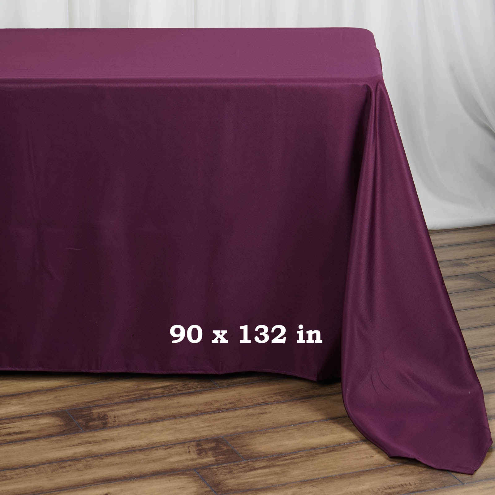 90x132-034-Polyester-Rectangle-Tablecloths-For-Wedding-Party-Banquet-Events thumbnail 15