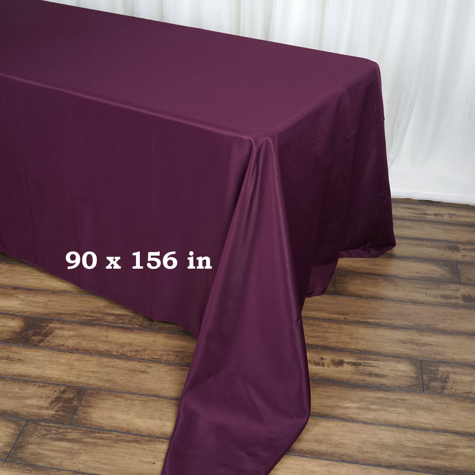90x156-034-Polyester-Rectangle-Tablecloths-For-Wedding-Party-Banquet-Events thumbnail 19