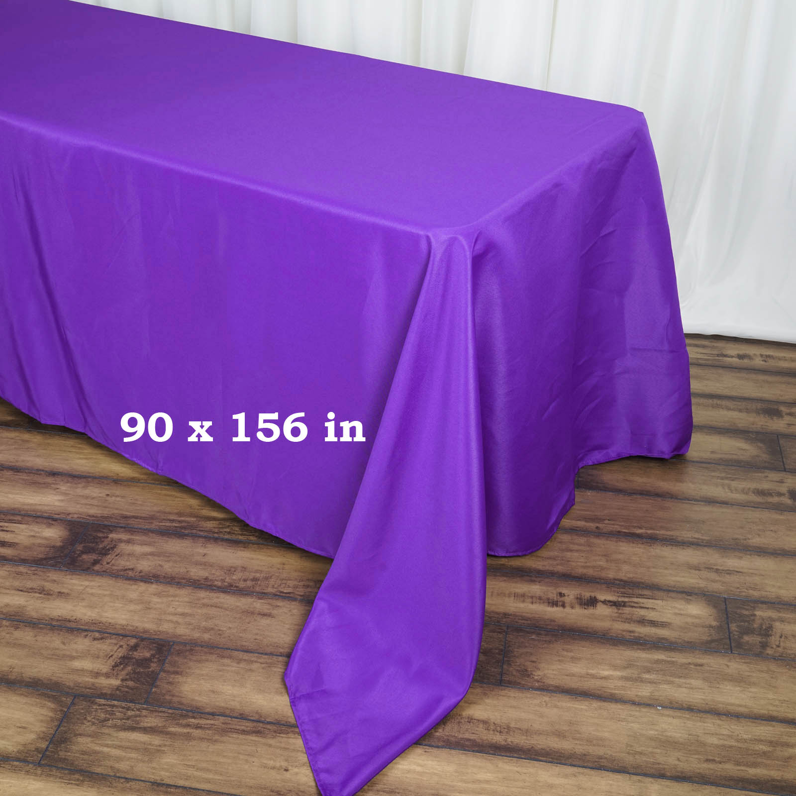 90x156-034-Polyester-Rectangle-Tablecloths-For-Wedding-Party-Banquet-Events thumbnail 38