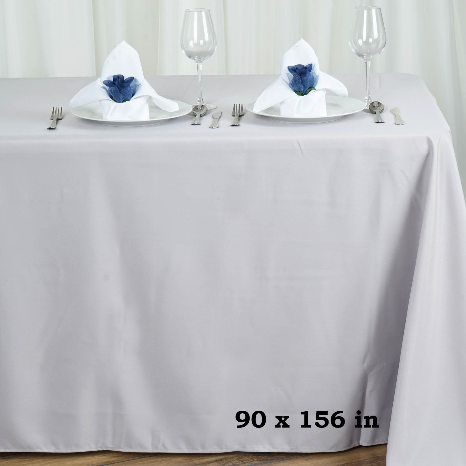 90x156-034-Polyester-Rectangle-Tablecloths-For-Wedding-Party-Banquet-Events thumbnail 53