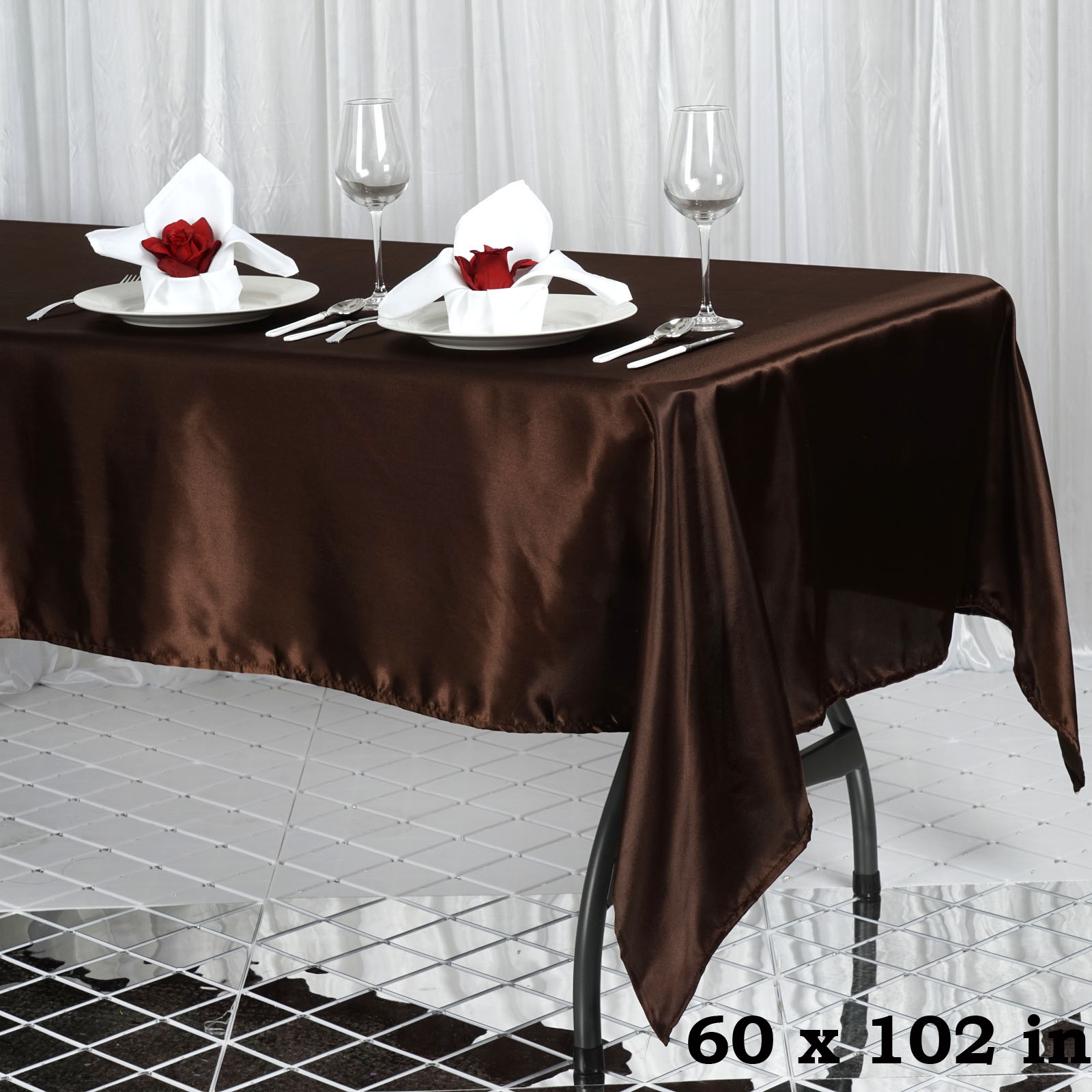 60x102 Quot Rectangle Satin Tablecloth Wholesale Satin Banquet