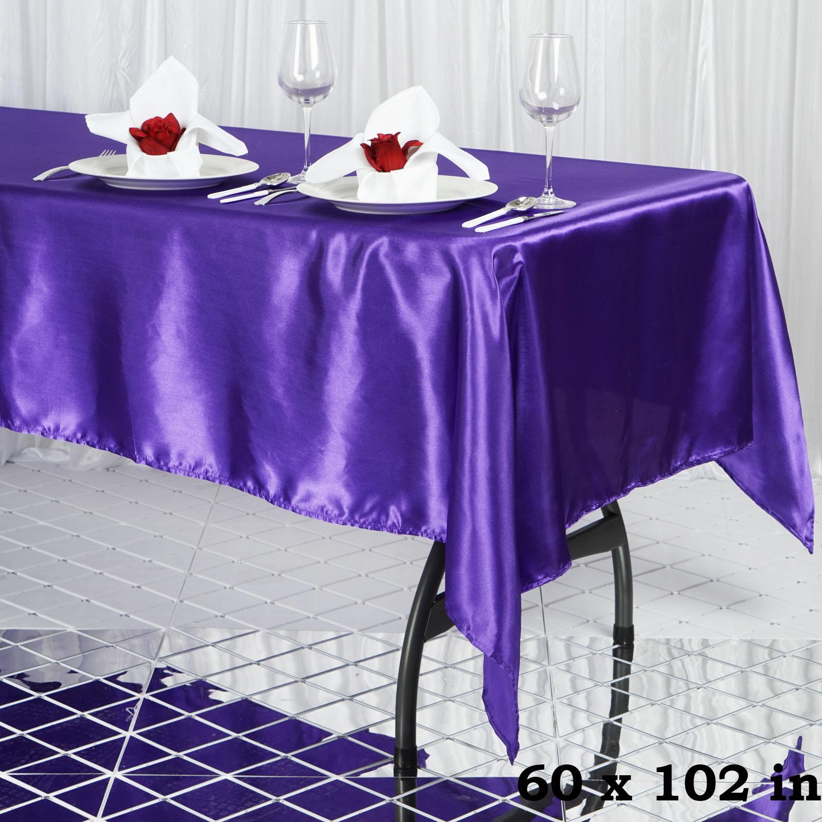 "60x102"" Rectangle Satin Tablecloth Wholesale SATIN Banquet ..."