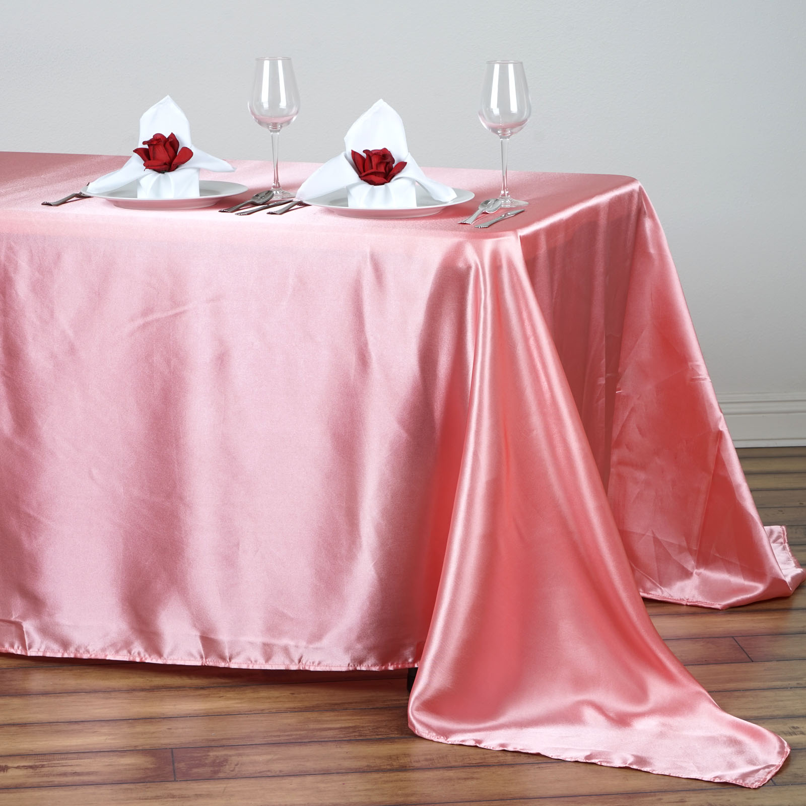 90x132-034-Rectangle-Satin-Tablecloth-For-Wedding-Party-Banquet-Events-Decoration thumbnail 67