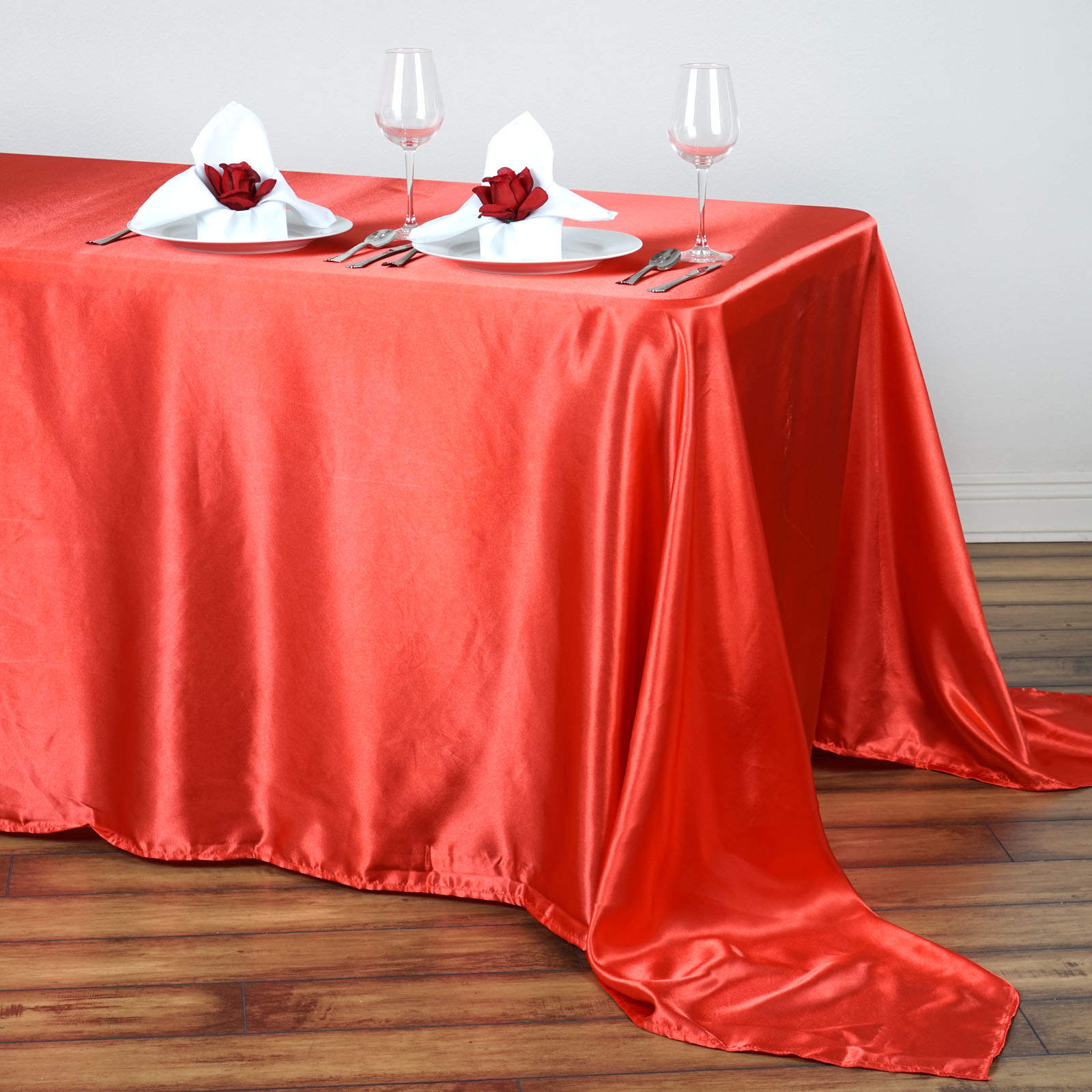 90x132-034-Rectangle-Satin-Tablecloth-For-Wedding-Party-Banquet-Events-Decoration thumbnail 26