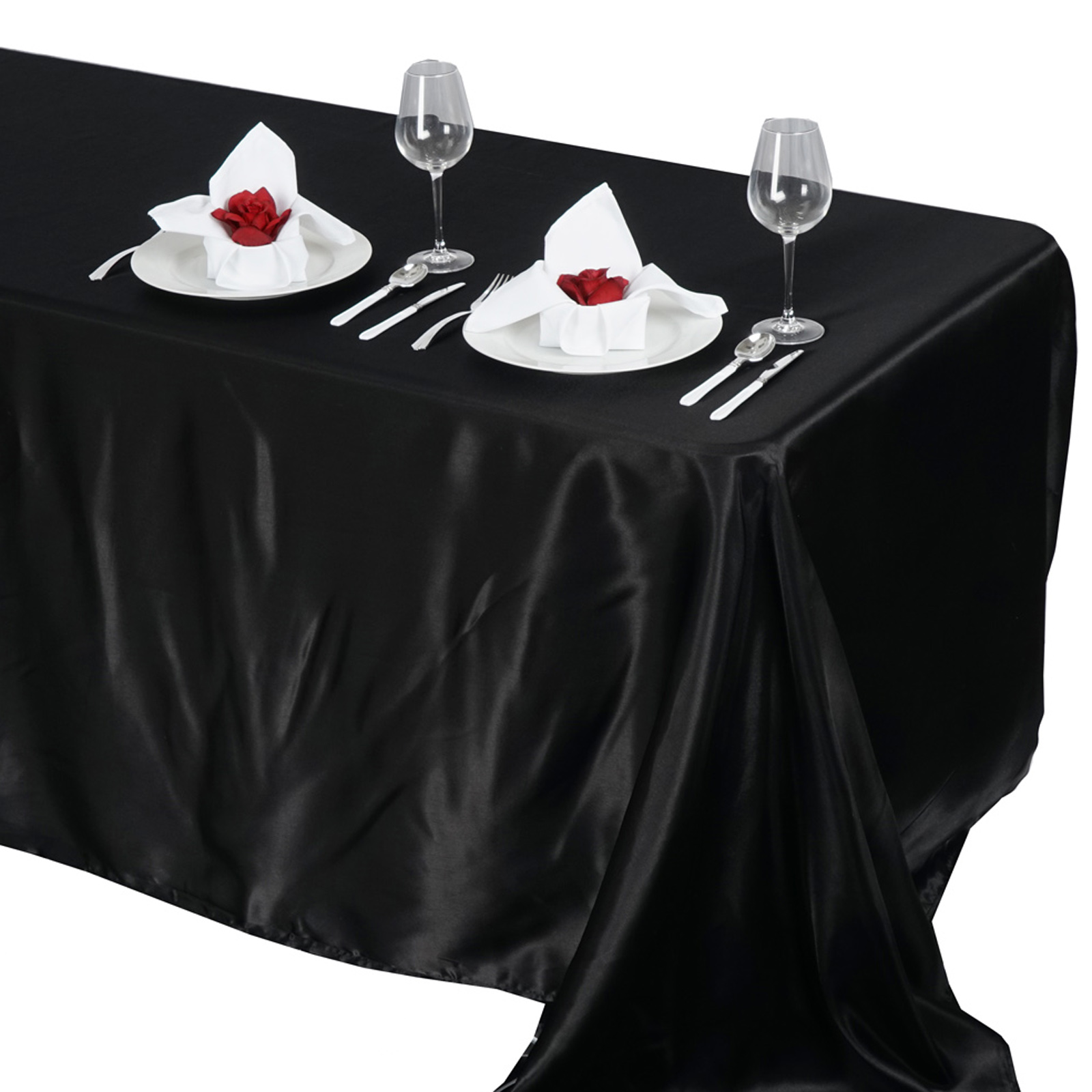 90x132-034-Rectangle-Satin-Tablecloth-For-Wedding-Party-Banquet-Events-Decoration thumbnail 5