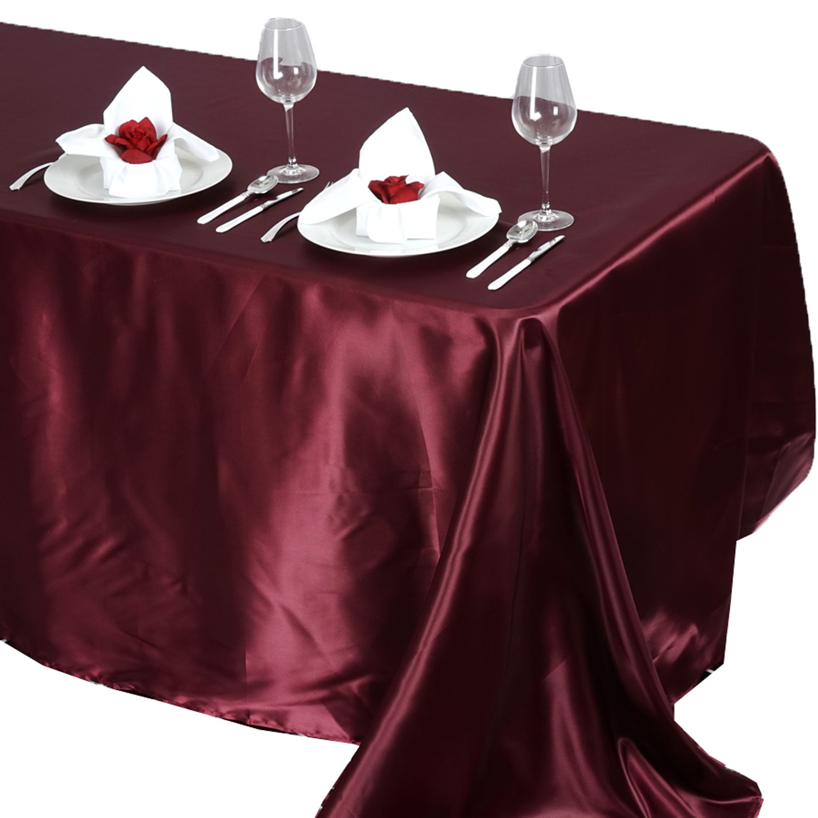 90x132-034-Rectangle-Satin-Tablecloth-For-Wedding-Party-Banquet-Events-Decoration thumbnail 13