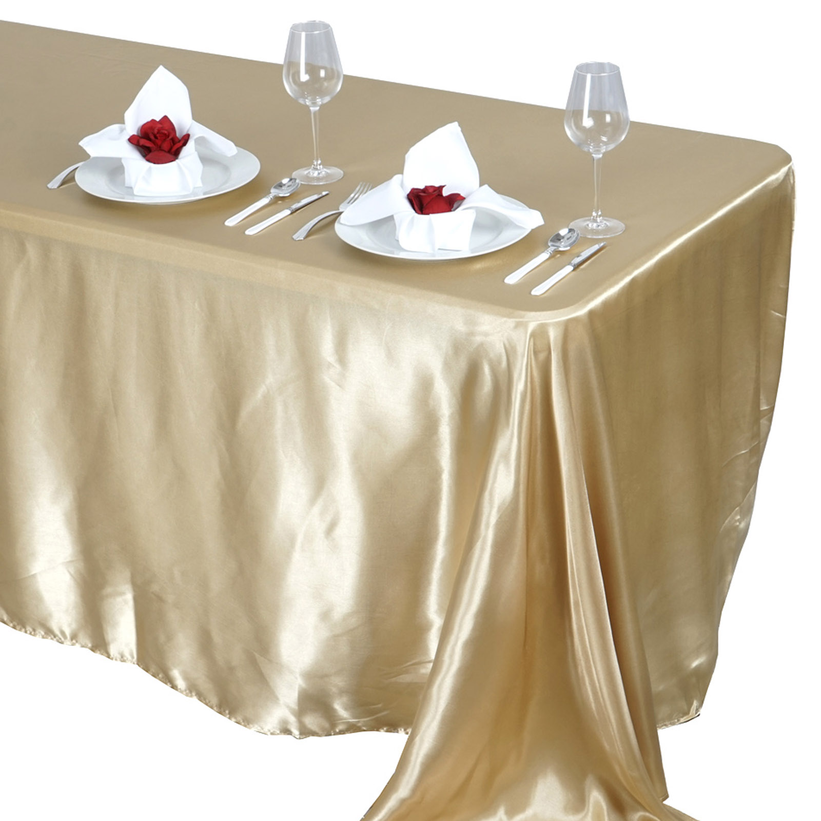 90x132-034-Rectangle-Satin-Tablecloth-For-Wedding-Party-Banquet-Events-Decoration thumbnail 18