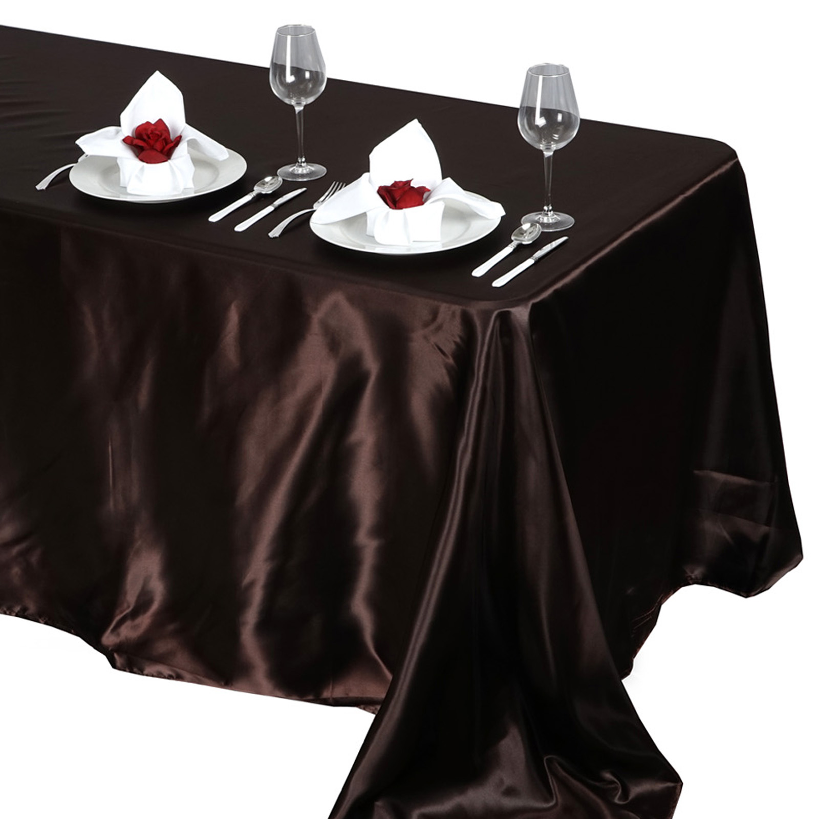 90x132-034-Rectangle-Satin-Tablecloth-For-Wedding-Party-Banquet-Events-Decoration thumbnail 23