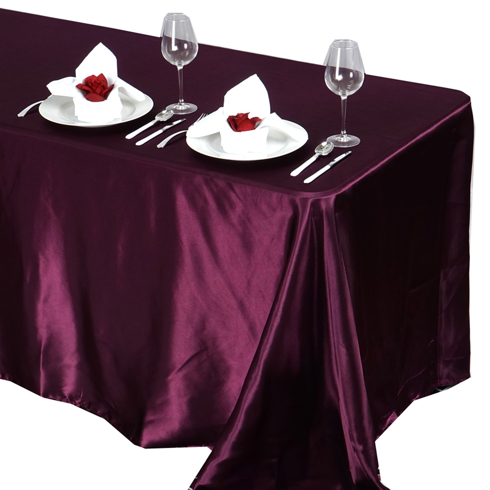 90x132-034-Rectangle-Satin-Tablecloth-For-Wedding-Party-Banquet-Events-Decoration thumbnail 32
