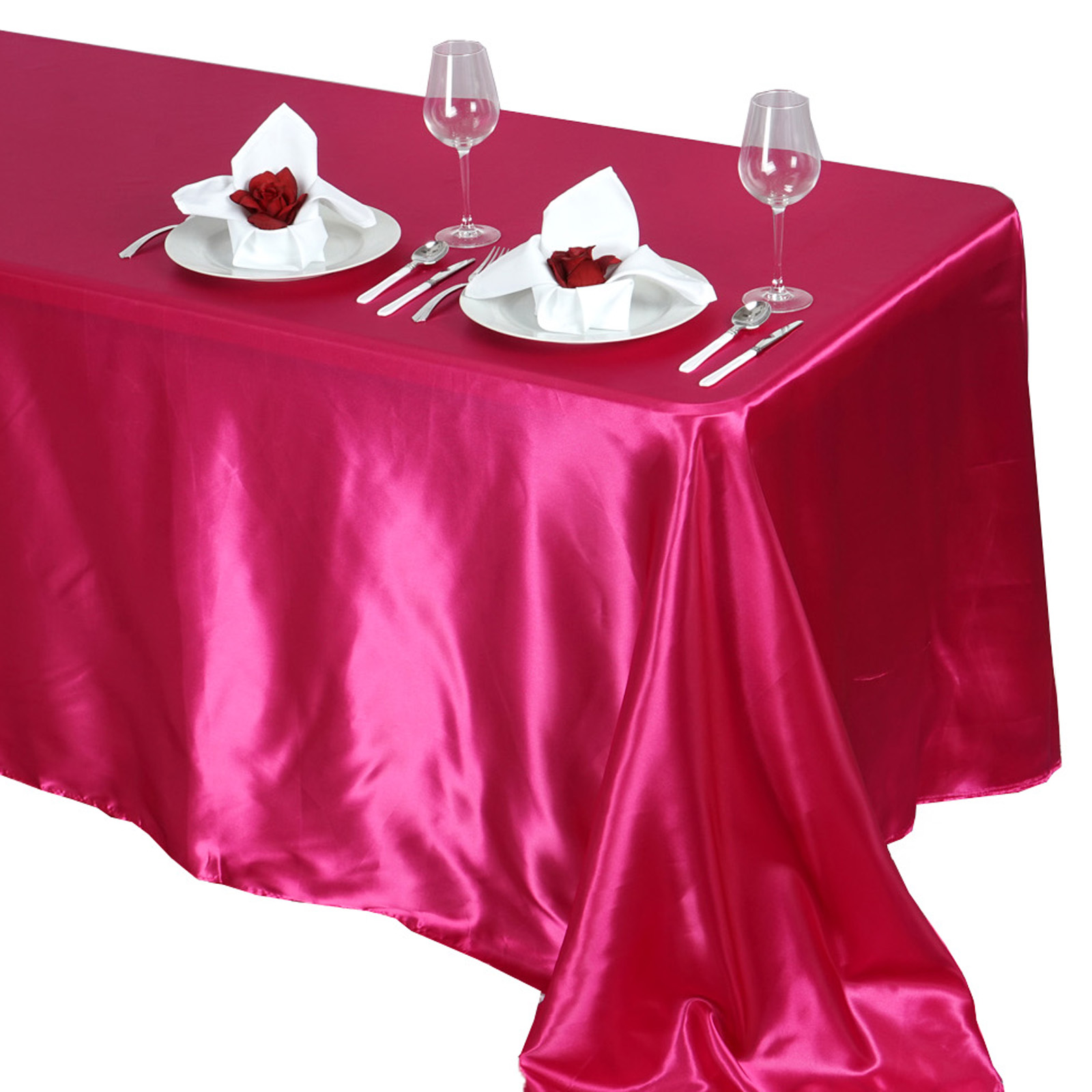 90x132-034-Rectangle-Satin-Tablecloth-For-Wedding-Party-Banquet-Events-Decoration thumbnail 37