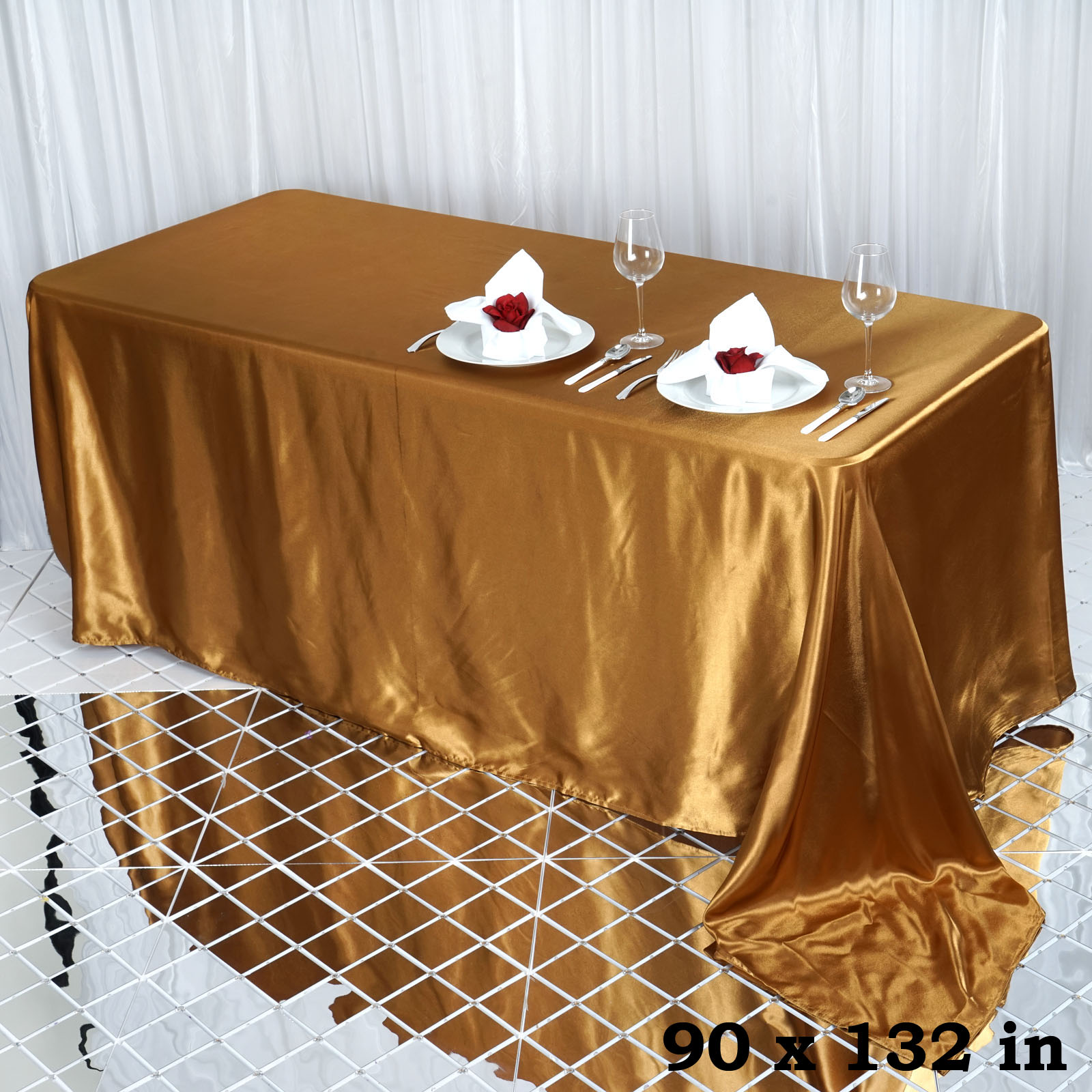 90x132-034-Rectangle-Satin-Tablecloth-For-Wedding-Party-Banquet-Events-Decoration thumbnail 40