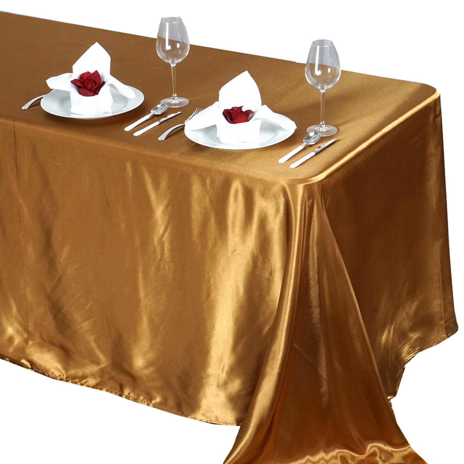 90x132-034-Rectangle-Satin-Tablecloth-For-Wedding-Party-Banquet-Events-Decoration thumbnail 42