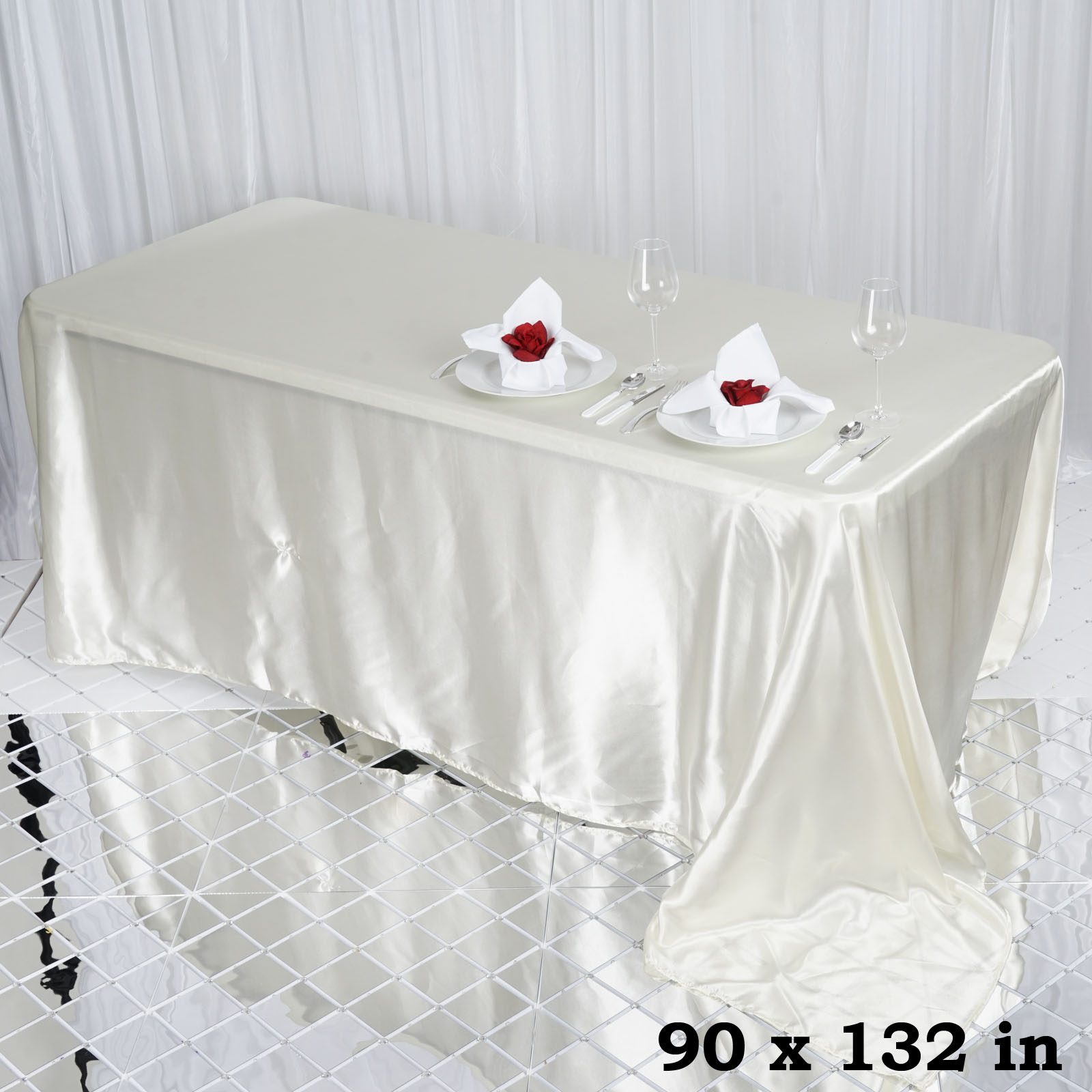 90x132-034-Rectangle-Satin-Tablecloth-For-Wedding-Party-Banquet-Events-Decoration thumbnail 48