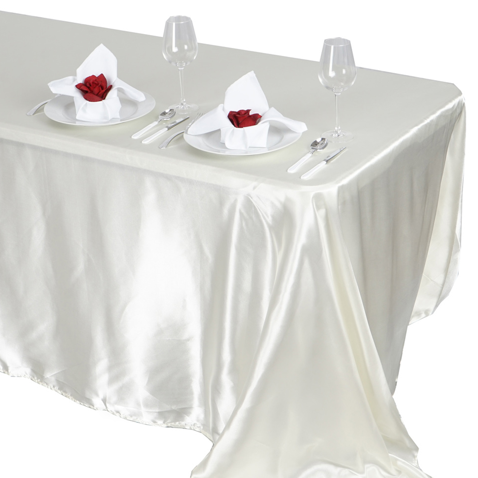 90x132-034-Rectangle-Satin-Tablecloth-For-Wedding-Party-Banquet-Events-Decoration thumbnail 50
