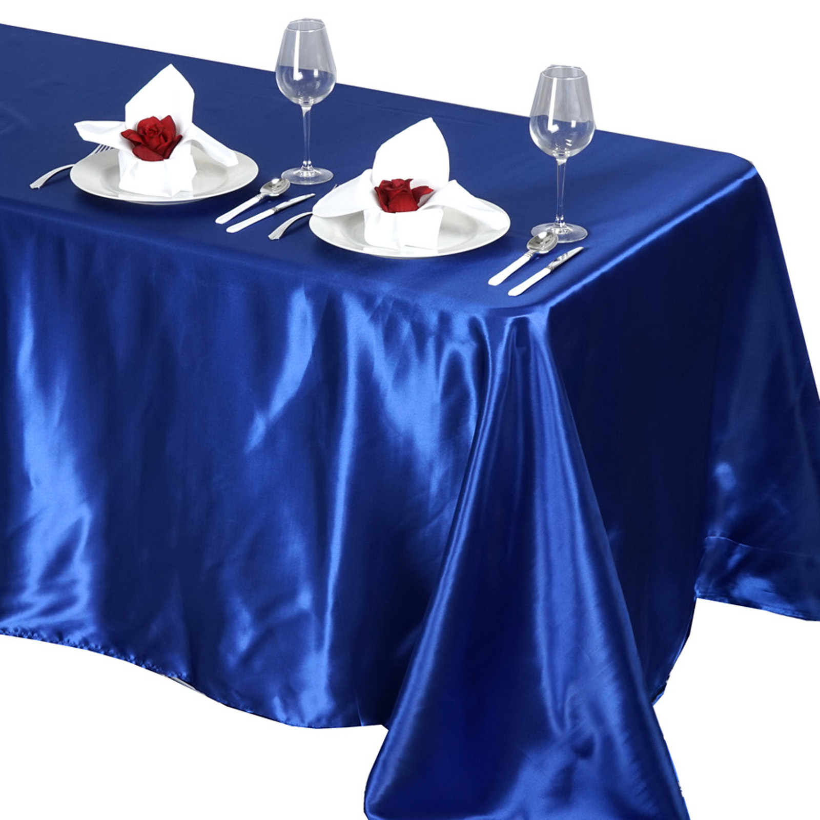 90x132-034-Rectangle-Satin-Tablecloth-For-Wedding-Party-Banquet-Events-Decoration thumbnail 73