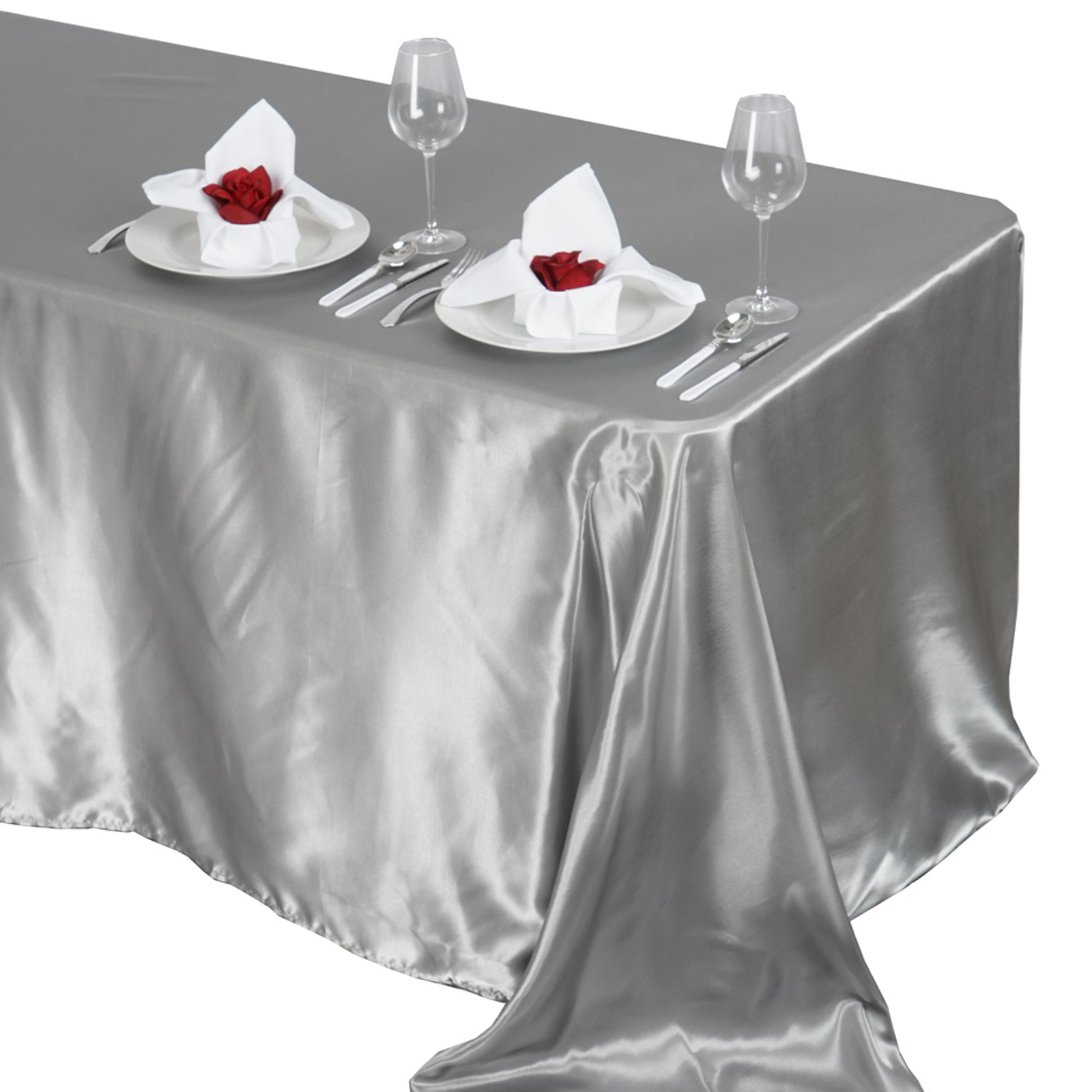 90x132-034-Rectangle-Satin-Tablecloth-For-Wedding-Party-Banquet-Events-Decoration thumbnail 78