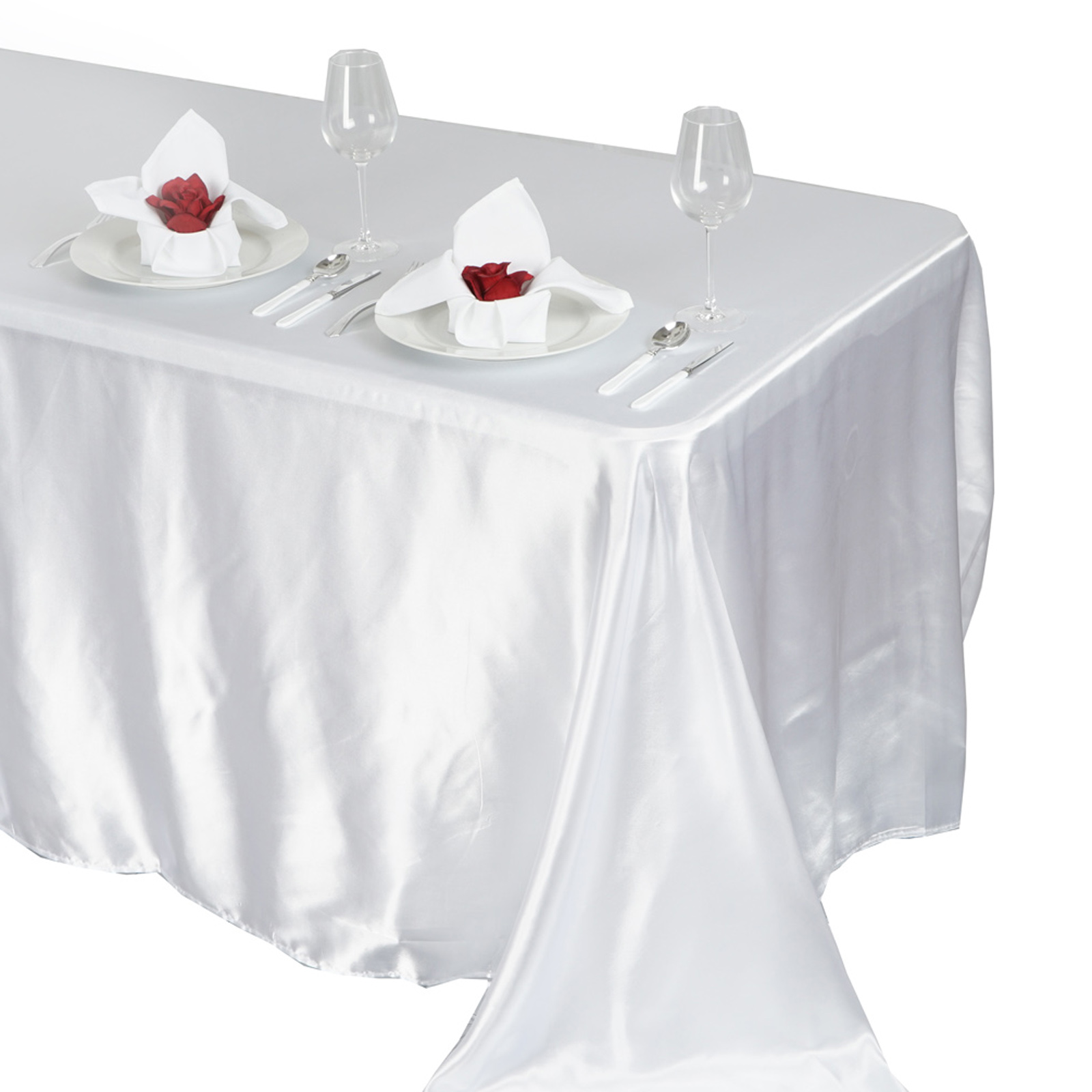 90x132-034-Rectangle-Satin-Tablecloth-For-Wedding-Party-Banquet-Events-Decoration thumbnail 88