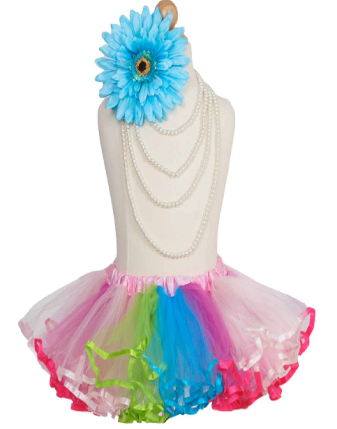 75c2d4909 4 Layered Rainbow Girls Ballet Tutu Skirt for Dance Performance ...