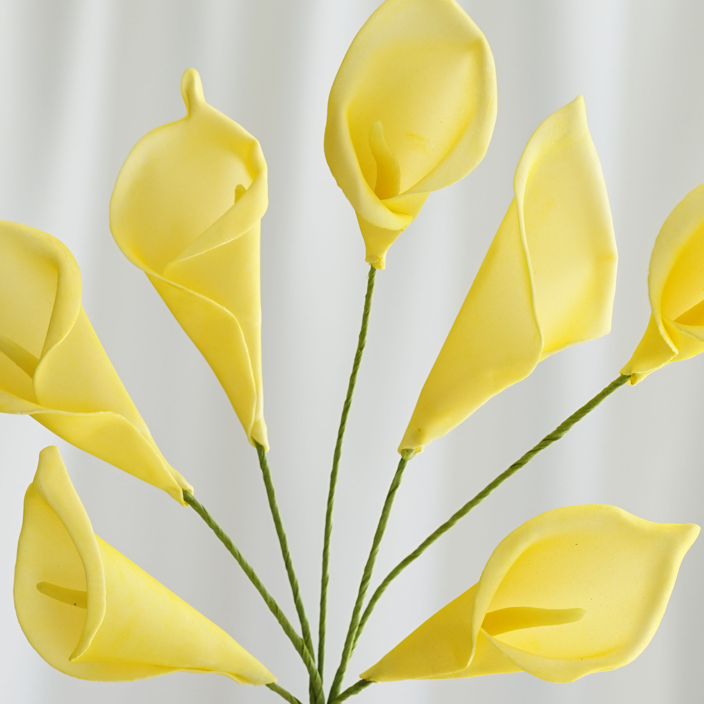 42 Yellow CALLA LILIES LILY Wedding WHOLESALE Flowers Bouquets ...