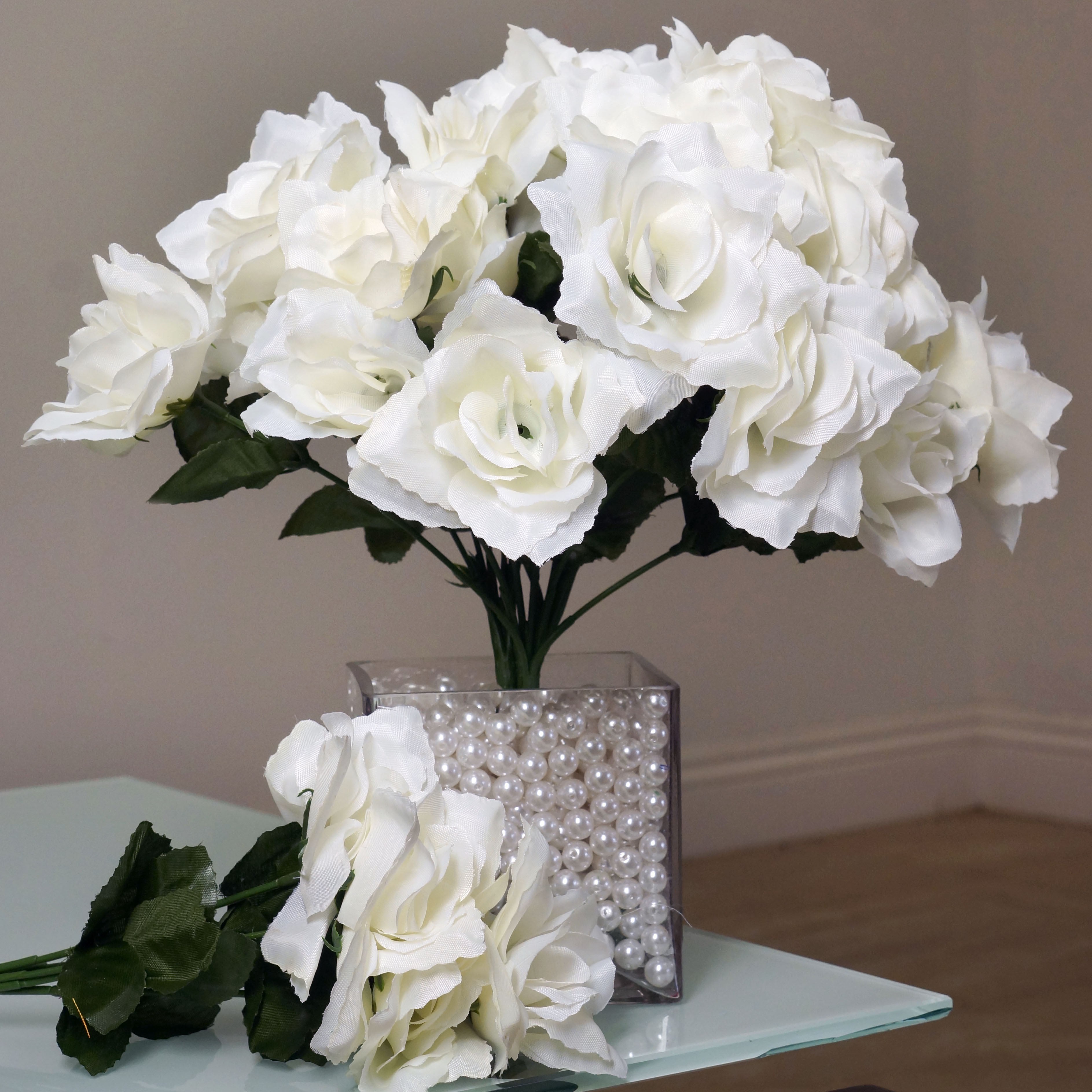Wedding Centerpieces Wholesale: 252 SILK OPEN ROSES Wedding WHOLESALE Discounted Flowers