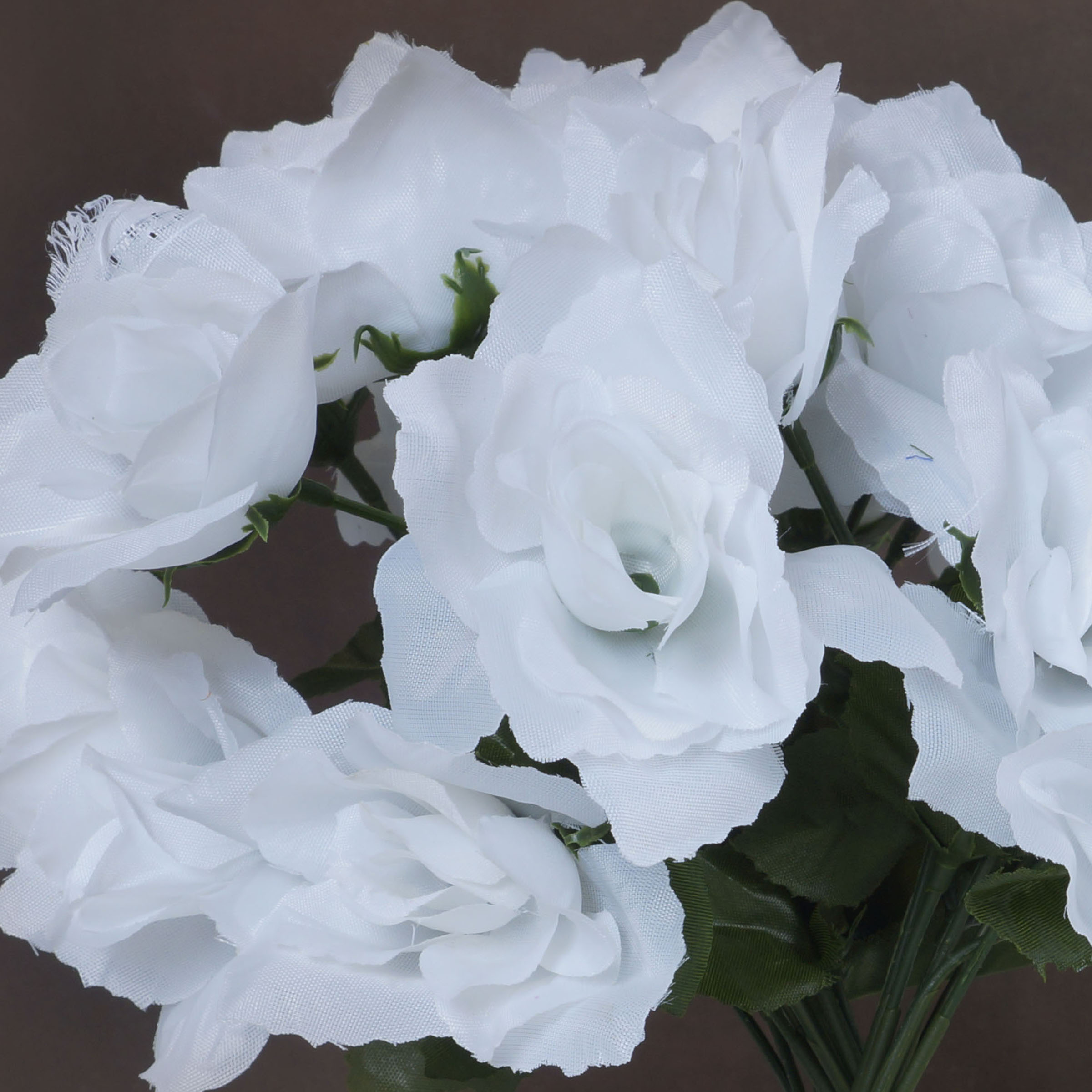 84 White Silk Open Roses Wedding Discounted Flowers Bouquets For