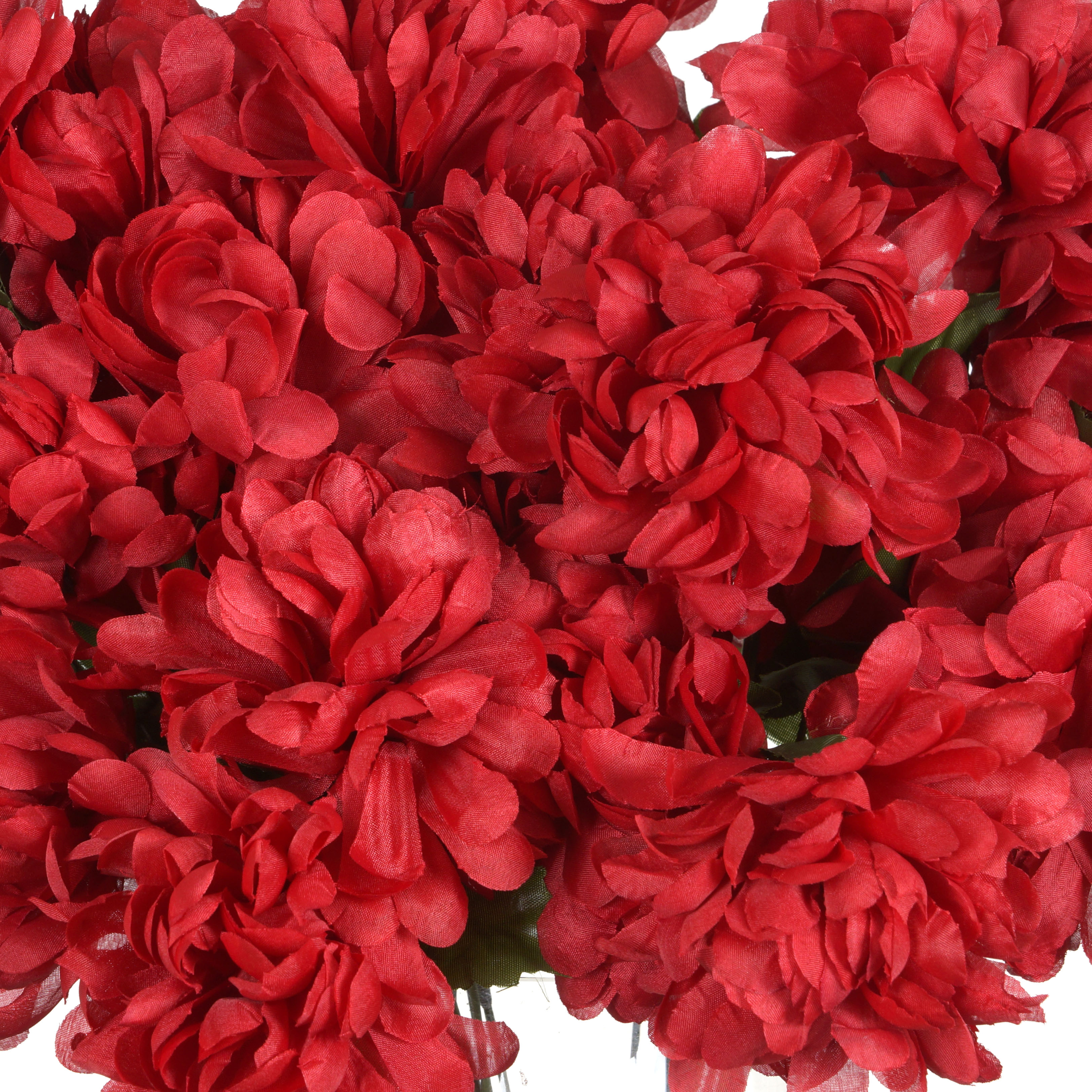 4 Red LARGE Silk Chrysanthemums Mums Bushes WEDDING FLOWERS Bouquets ...