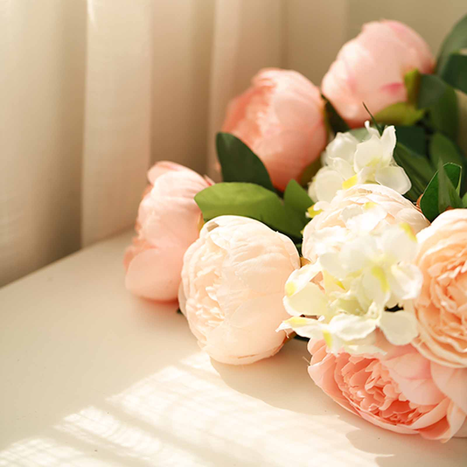 4f57f287816d 14 light pink and blush silk peony and hydrangea flowers weddingdetails  about 14 light pink and