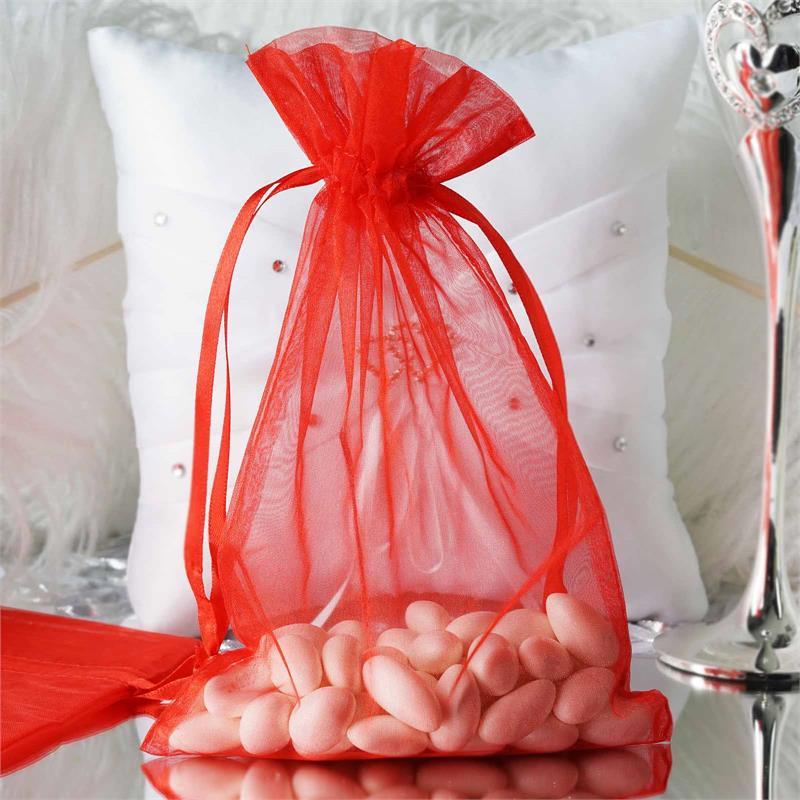 "50 pcs 6x9/"" ORGANZA FAVOR BAGS Wedding Party Reception Gift Favors SALE"
