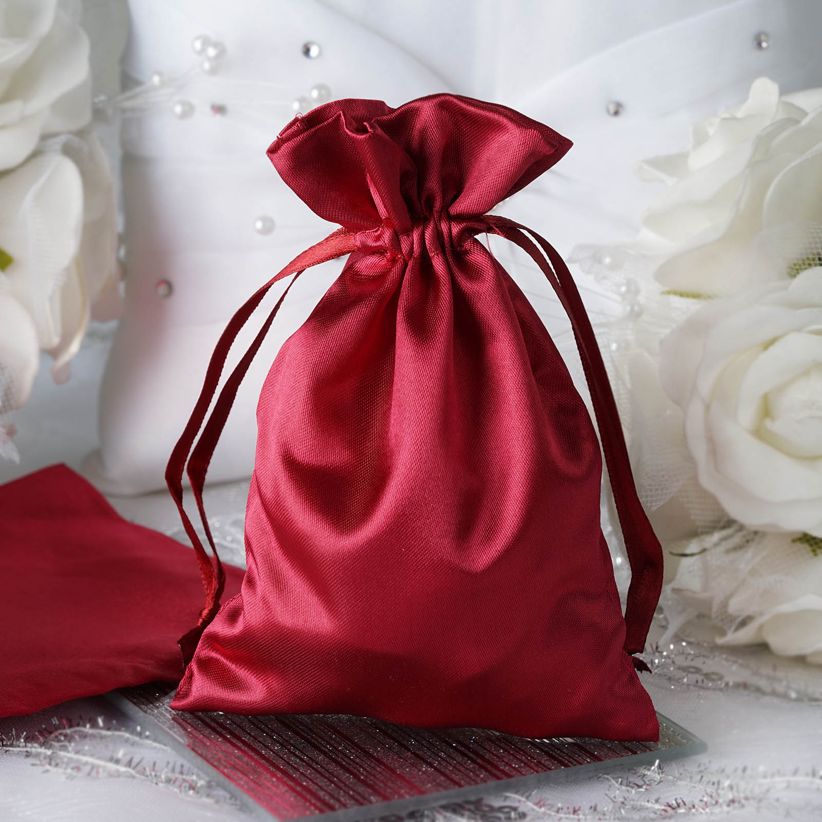 120 Pcs 4x5 Satin Favor Bags Wedding Party Reception Gift Favors