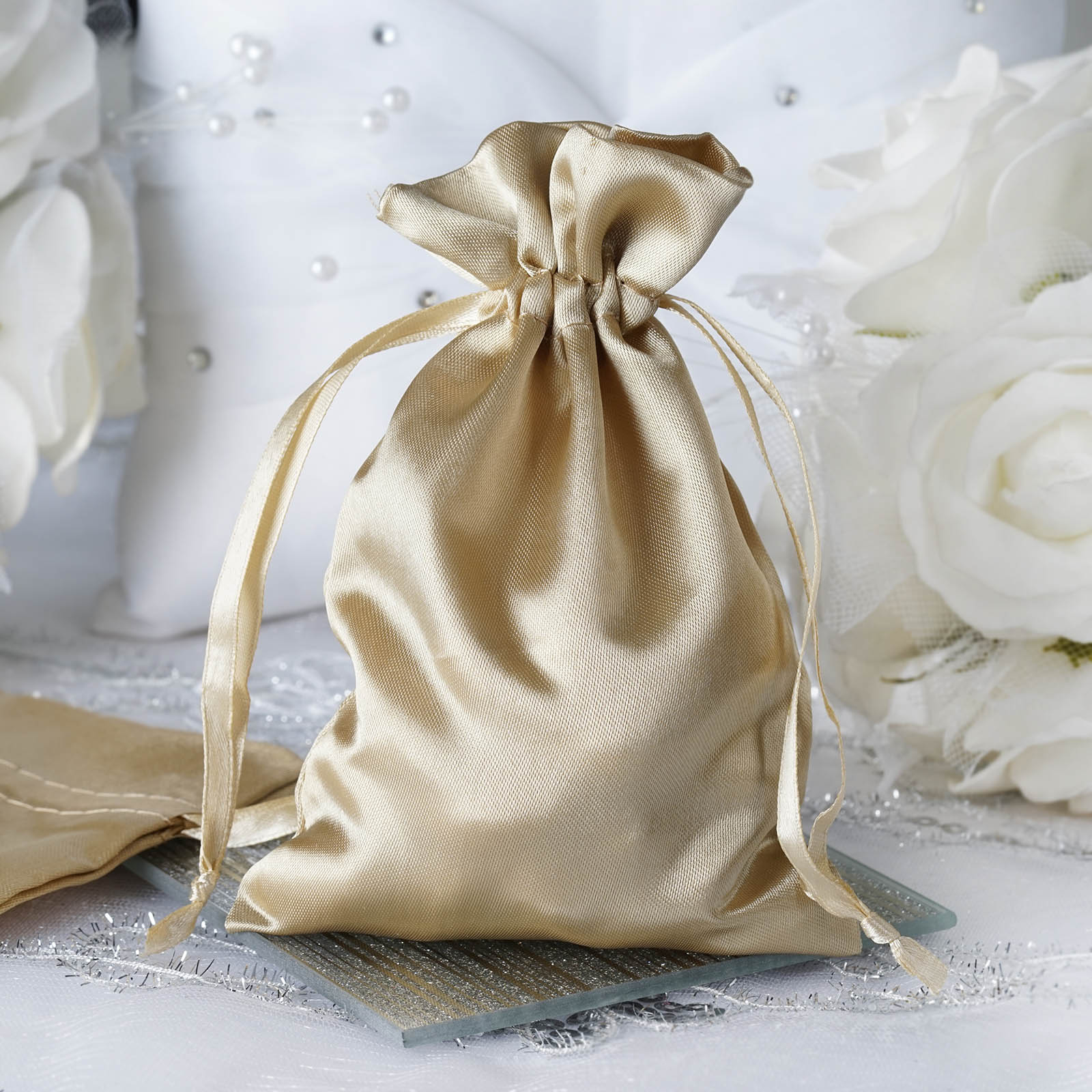 """Wedding Gifts Wholesale: 120 Pcs 4x5"""" SATIN FAVOR BAGS Wedding Party Reception Gift"""