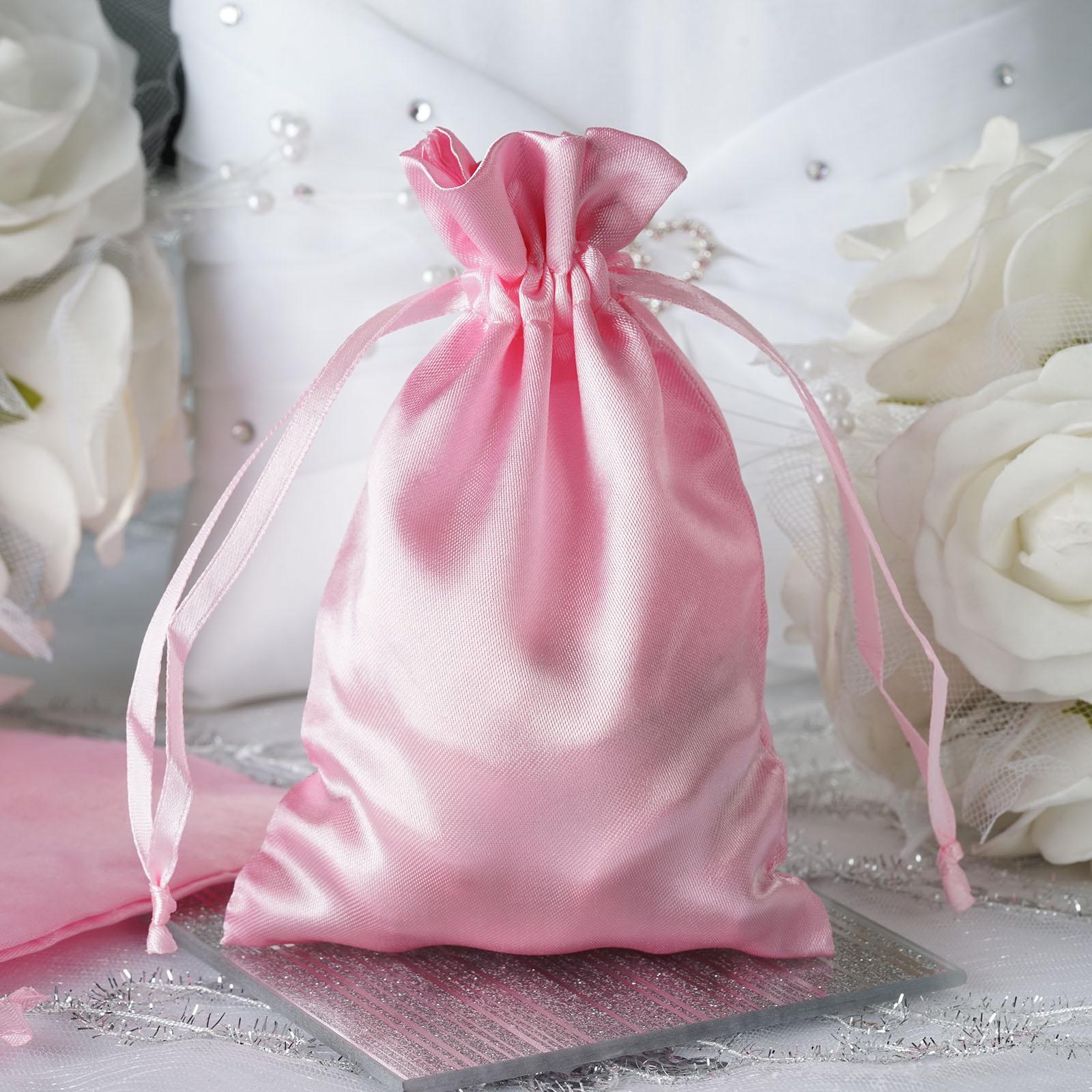 60 Pcs 4x5 Satin Favor Bags Wedding Party Reception Gift Favors